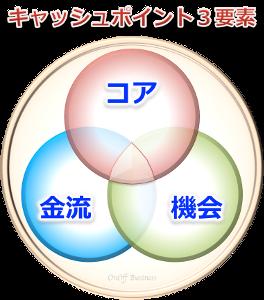 3factorキャッシュポイント3要素